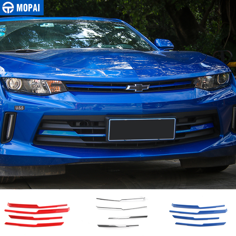 MOPAI Car Exterior Front Grille Cover Decoration Trim ABS Stickers For Chevrolet Camaro 2017 Up Car Styling цена