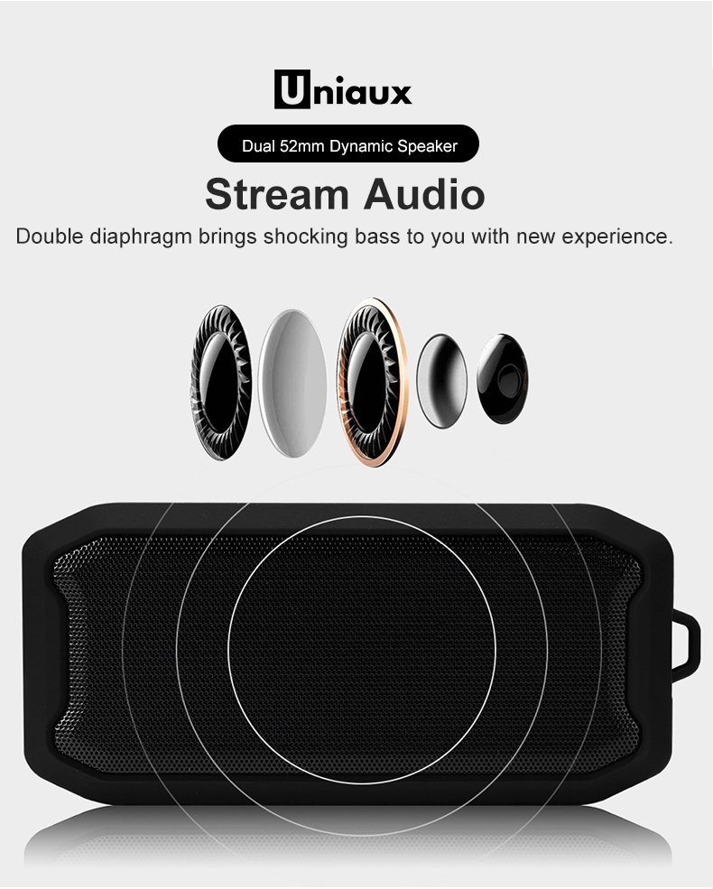 Image 5 - Waterproof Bluetooth Speaker Portable Speaker with FM Radio Aux In Bluetooth 5.0 Speakers Portable USB TF Card Play-in Portable Speakers from Consumer Electronics