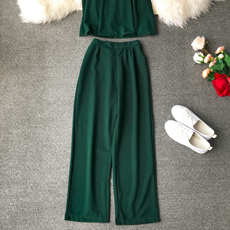 HTB1QEAsVCzqK1RjSZFjq6zlCFXaD - two piece set women fashion sexy short top and long pants casual sleeveless Elastic high waist female summer festival clothing