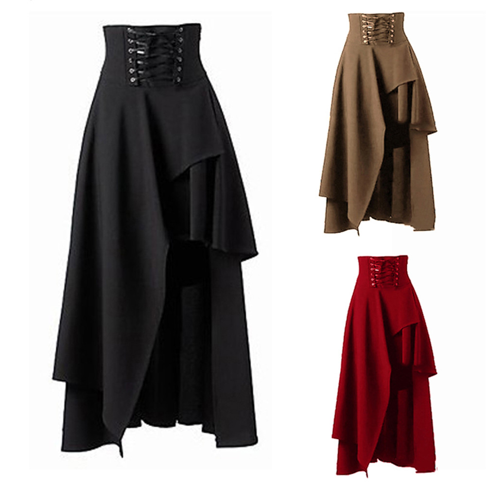 Costumes Skirt Party-Wear Masquerade Pirate Lolita-Style Vintage Medieval Renaissance Gothic