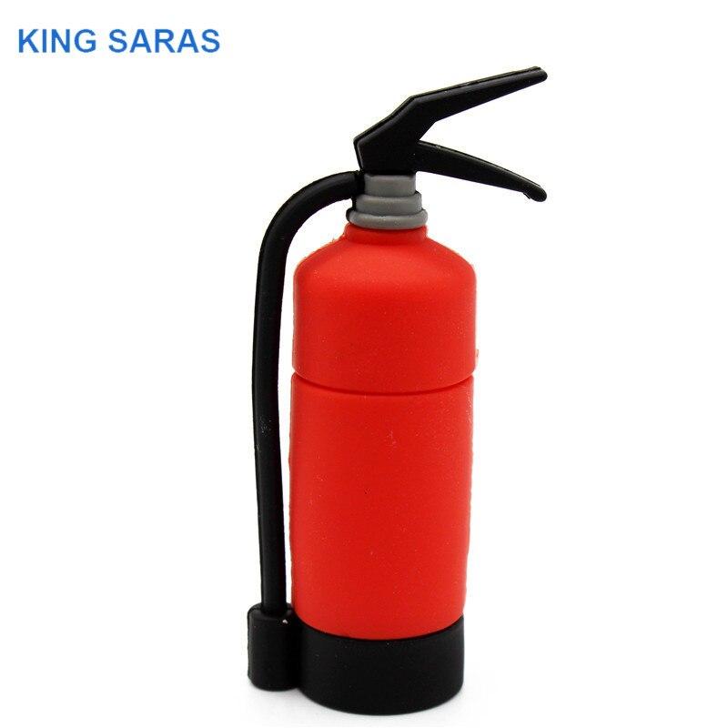 KING SARAS  Cartoon Mini Fire Extinguisher Usb2.0 4GB 8GB 16GB 32GB 64GB Pen Drive USB Flash Drive Creative Pendrive