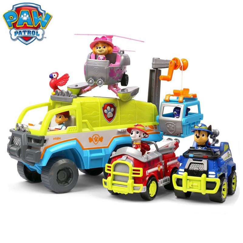 Original Paw Patrol Jungle Series Action Figures Toy Chase Tracker Zuma Puppy Dog Patrol Car Toy Children Educational Toy Gift