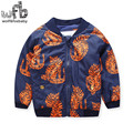 Retail 2-8 years children parkas Thickening full-sleeves printing cartoon tiger cute kids spring autumn fall winter