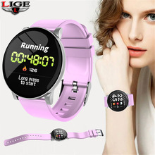LIGE New Women Smart Bracelet Health Monitor Heart Rate / Blood Pressure Waterproof Pedometer Mens Watches Sports