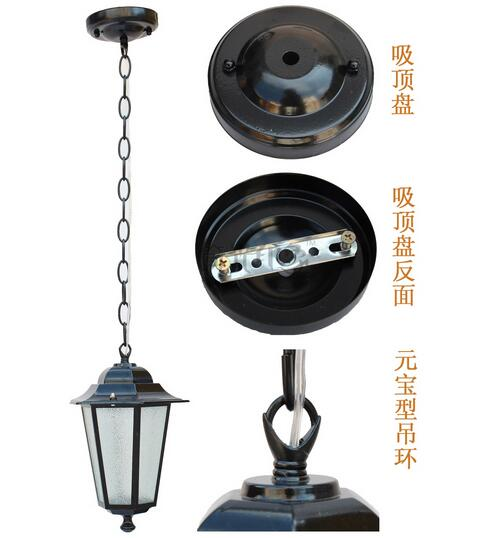 FREE SHIPPING EMS Fashion pendant light outdoor balcony garden lights restaurant lamp classic scuppernong lamp ems free shipping pendant lights fashion balcony lamp entrance lights rustic lamps b1801c zzp
