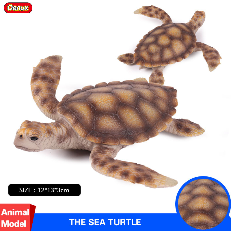 Oenux Ocean Life Animals Sea Life Sea Turtle Model PVC Marine Animal Turtles Solid Action Figures Collection Toy For Kids Gift dunlop grandtrek at2 175 80 r16 91s