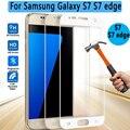 3D Изогнутые Поверхности Прозрачного Стекла для Samsung Galaxy S7 edge Протектор Экрана Полный Охват Стеклянной Пленки для Samsung Galaxy S7