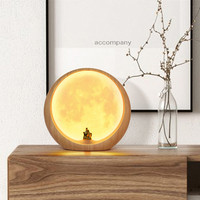 Touch Dimmable Led Night Light Lamp Lunar Moon USB Rechargeable for Baby Children Kids Creative Gift Bedside Bedroom Living Room