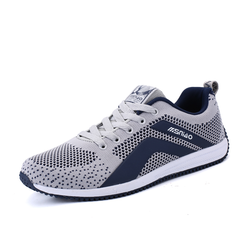 Mens Running Trainers Run Shoes Spring/Summer Men Sneakers Sport Gray/Blue Men Shoes Sneakers Breathable Mens Walking Shoes men yeezy running shoes sport big size black gray mesh jogging shoes for men summer autumn sneakers mens athletic trainers male
