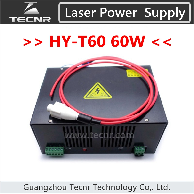 High Quality AC 220V Or AC 110V 60W CO2 Laser Power Supply For Laser Engraving Machine HY-T60