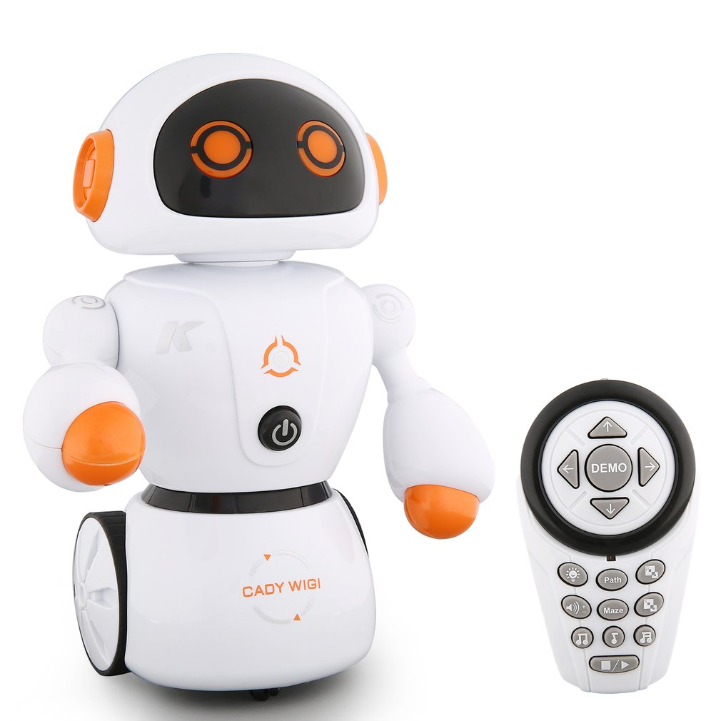 Smart Remote Control Dynamic Induction Intelligent Remote Control Robot Children Educational Toys Early Kids Smart Toys With Music Talking Walking Function Smart Electronics