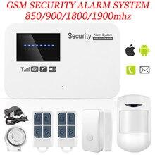 Новый Беспроводной/проводной Телефон SIM GSM Домашняя Охранная GSM Сигнализация Английский Русский Spansih Голосовые Подсказки Сигнализация Датчик комплект