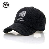 Autumn Winter Baseball Cap Corduroy Autumn Hat For Men Women Gorras Embroidery Fist Accessoires Golf Cap