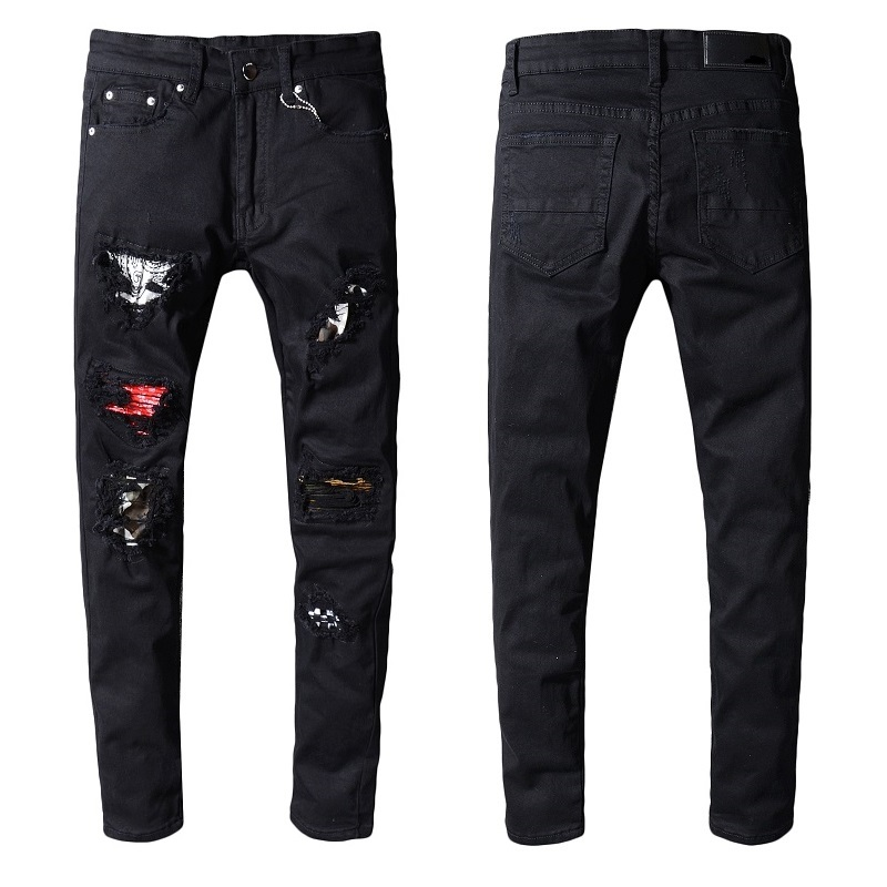 Royles! Men's Distressed Black Jeans