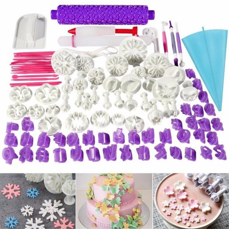 Delfenfen 1 PC bricolage Silicone Cookie moule de qualité alimentaire en plastique Fondant Cutter Buscuit moule Sugarcraft gâteau décoration outil