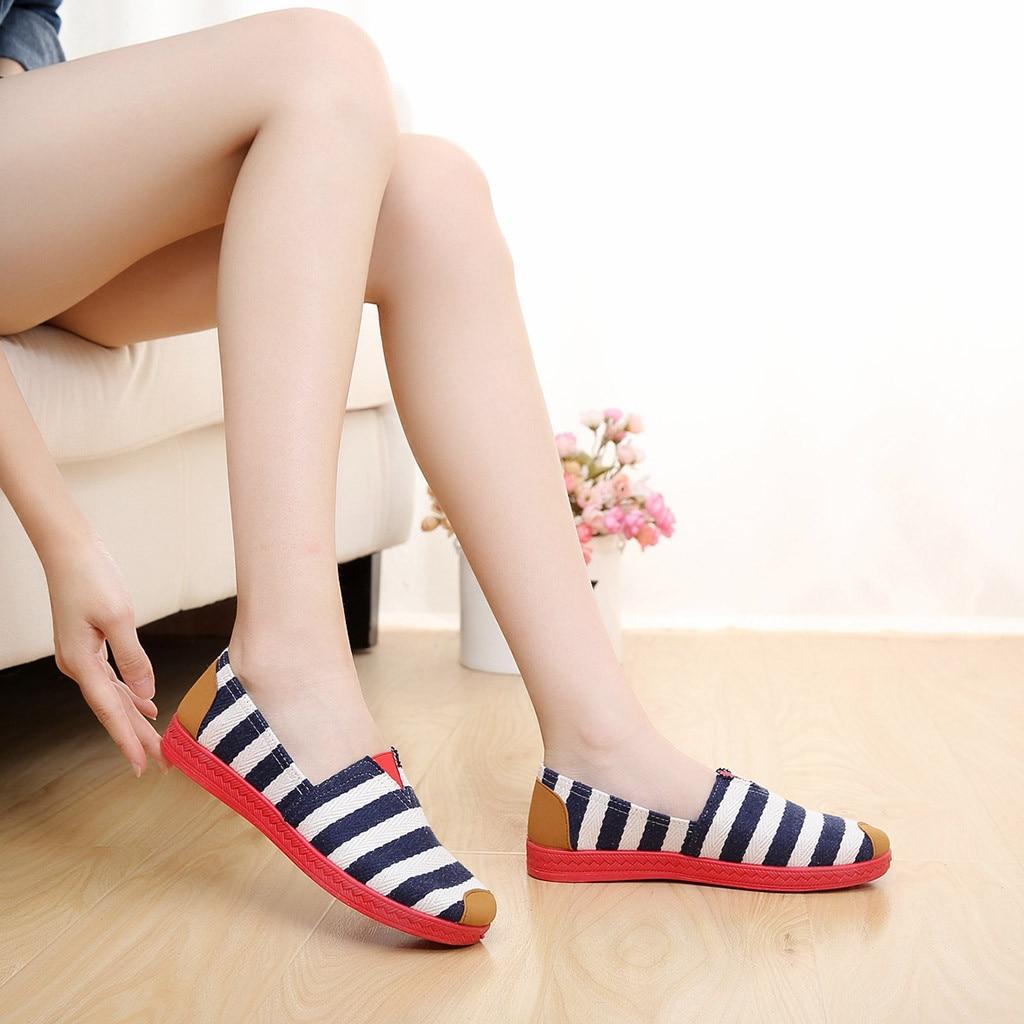 Femme Loisirs Casual Mode Doux Bout Appartements Rond Chaussures Simples Bleu Toile Travail rouge Mocassins Sagace De 2018dec11 5Iq1pxwnnP
