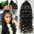8a Fashion Beauty Female Natural Wave Natural Black Heat Resistant Hair Synthetic Lace Front Wigs With Baby Hair Full Lace Wigs