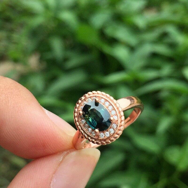 KJJEAXCMY joyería fina 925 incrustaciones de plata zafiro colorido Natural 1 quilate Jade conjunto de joyería de las mujeres impecable - 5