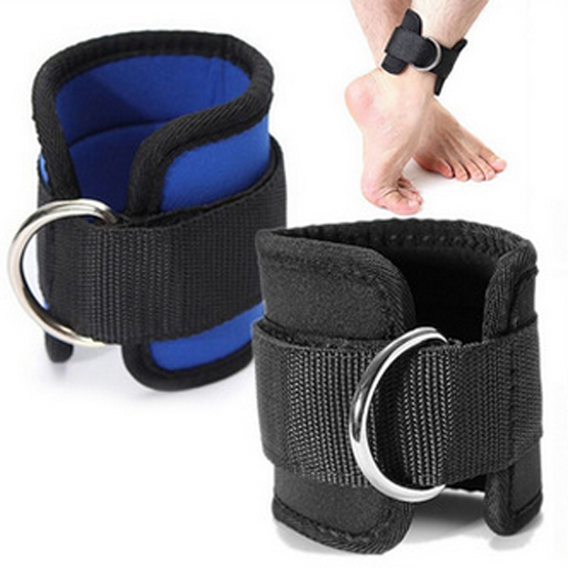D-Ring Ankle Anchor Strap Belt Gym Cable Attachment Thigh Leg Strap Lifting Fitness Exercise Banda Elastica Fitness Resistencia