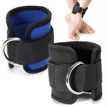 D-Ring Ankle Anchor Strap Belt Gym Cable Attachment Thigh Leg Strap Lifting Fitness