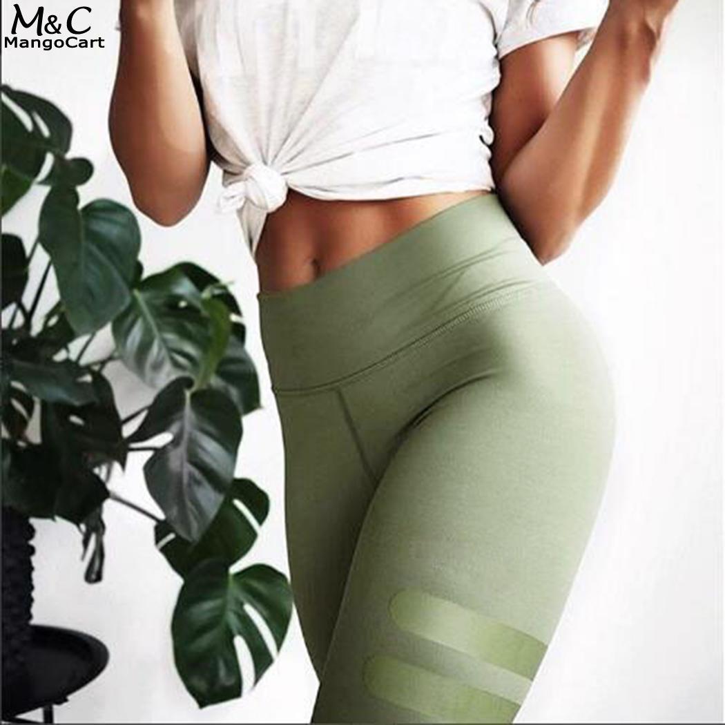 Тренажерный зал моды Эластичный тренировки Для женщин спортивные Леггинсы Капри Йога включает