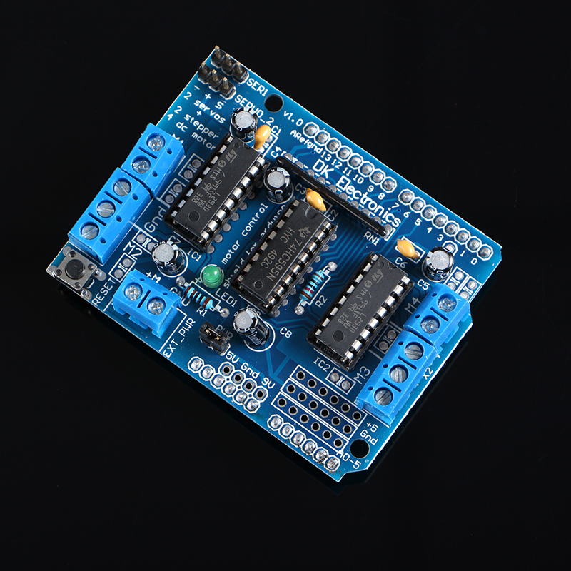 50PCS/LOT Motor Drive Shield L293D For Arduino Duemilanove Mega / UNO