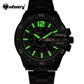 INFANTRY Men Watches Brand Luxury Military Wrist Watches Full Steel Sports Quartz Watch Luminous Male Clock Relogio Masculino