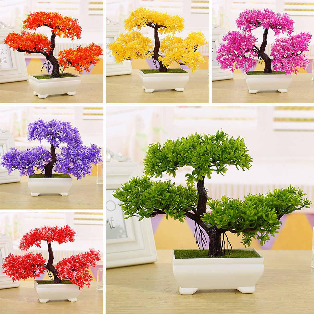 ... Dekorasi rumah 1 PC Menyambut Pinus Bonsai Simulasi Dekorasi bunga dan  Karangan Bunga Buatan Pot Tanaman cc9ce5c680