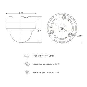 Image 3 - 5MP POE Mini PTZ IP Camera Dome H.265 Indoor 2.8 12mm 4X Optical Zoom IR 45M P2P CCTV Security Onvif Waterproof G.Craftsman