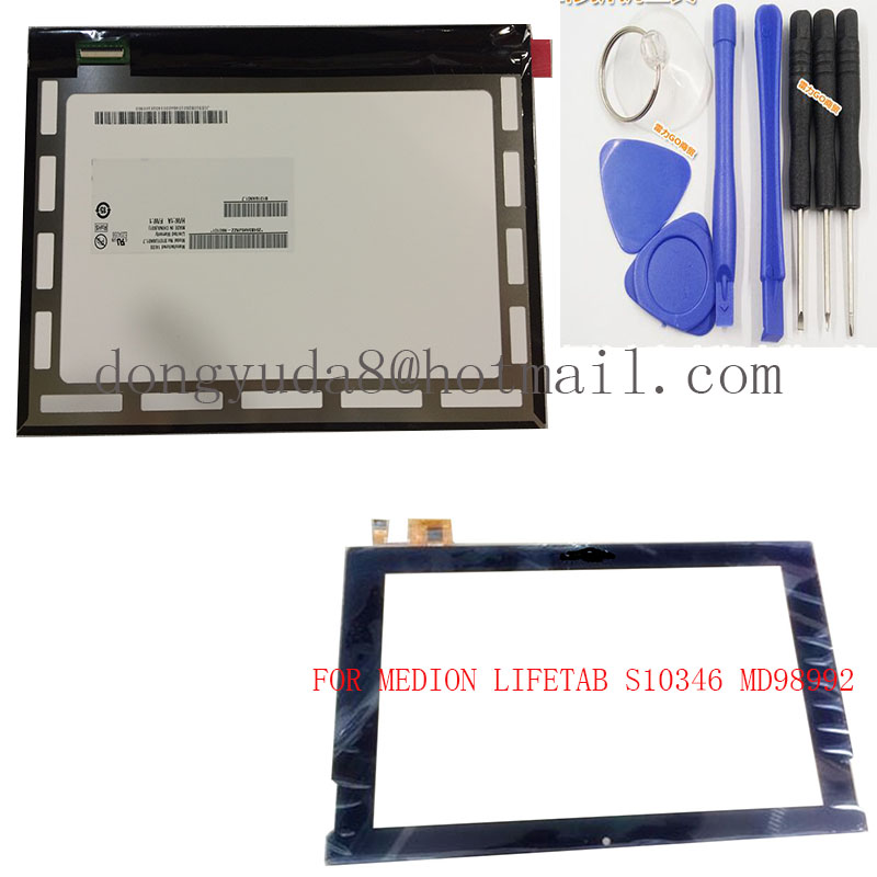 Бесплатные инструменты + Оригинал 10,1 MEDION LIFETAB S10346 MD98992 планшет емкостный сенсорный экран панель ЖК-дисплей дигитайзер стекло сенсор