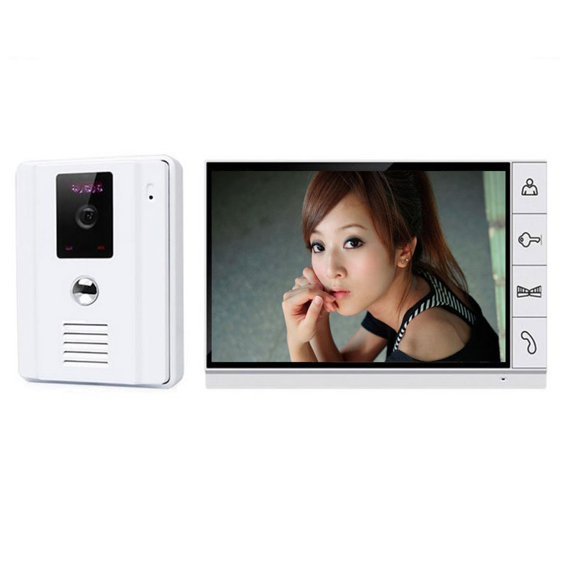 Home Use 9 Inch TFT Monit Wired Video Door Intercom System Wide 700tvl Night Vision Outdoor Angle Camera For Apartment Security