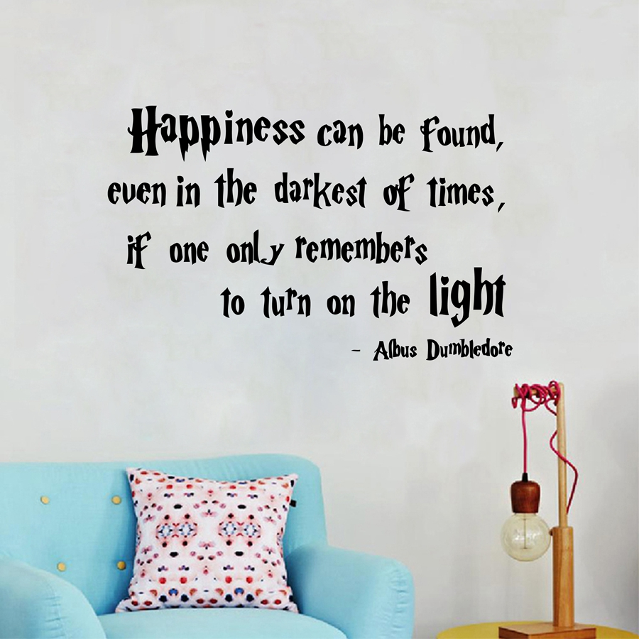 Hp Quotes Harry Potter Quotes Wall Decal Happiness Can Be Found Albus