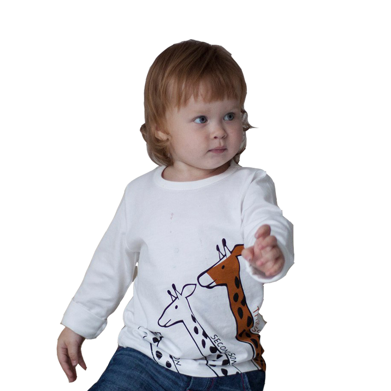 Girl long sleeve tops giraffe long tshirt boys t-shirt kids clothes funny girls t shirt kid Boy top shirts children clothing