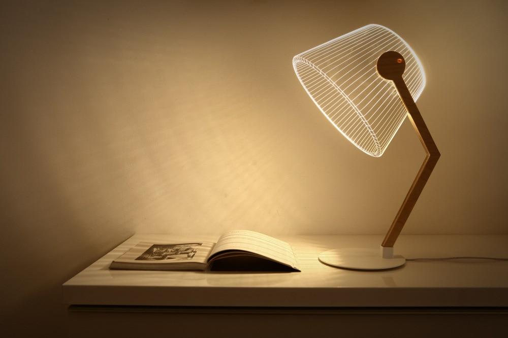 2018 New Modern Design Optical illusion 3D LED Lamp as Home Decor Bedroom Night Light Warm White Table Light