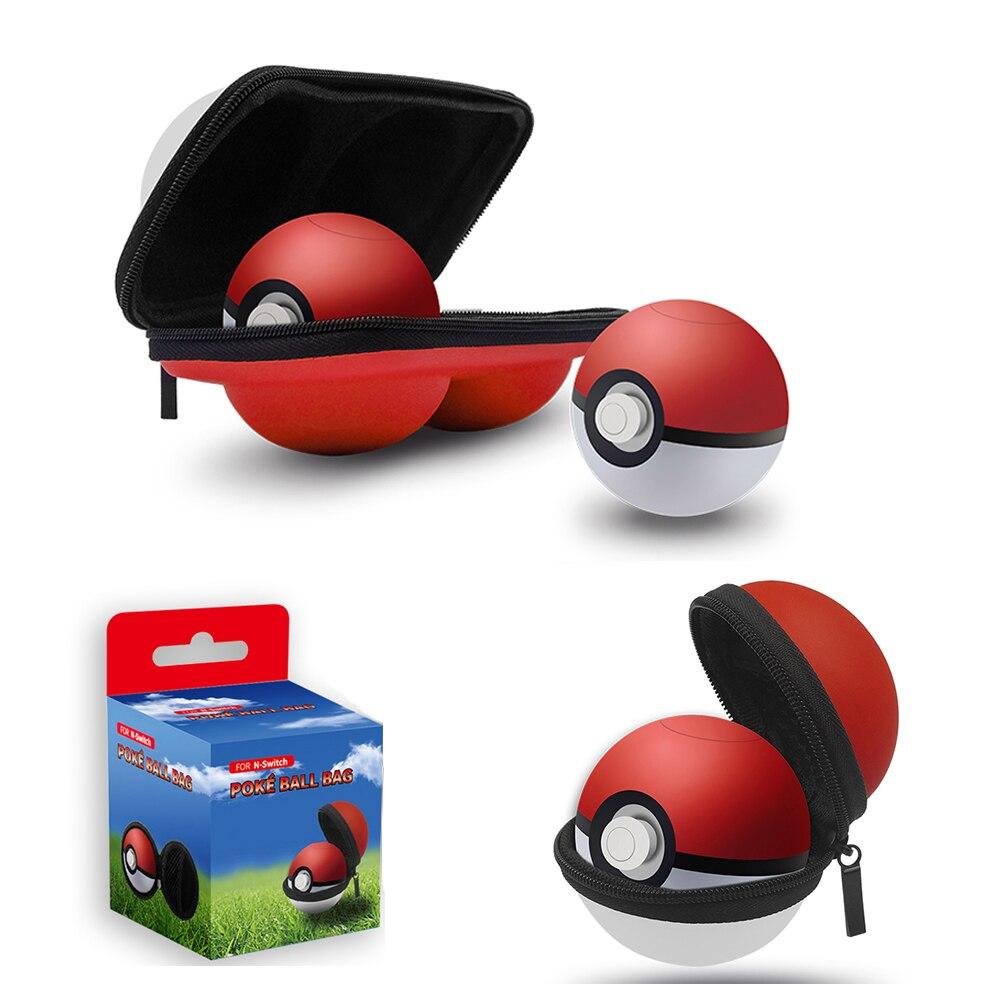 Tragbare Pu Fall Lagerung Box Beutel Staub-proof Und Wasserdicht Für Nintend Schalter Ns Konsole Pokemon Pokeball Plus Videospiele