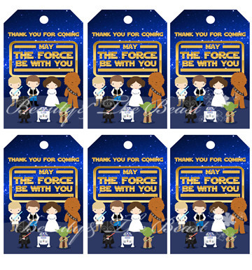 Star Wars Thank You Tags Galaxy Favor Gift Favors Party DecorationBirthday Decorations Kids Supplies In DIY