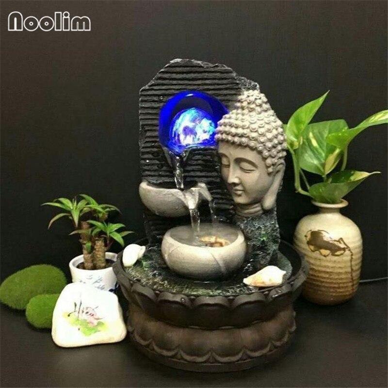 Budda recykling wody dekoracja feng shui fontanna meble biurowe na blat robak dom otwarcie prezent rzemiosła