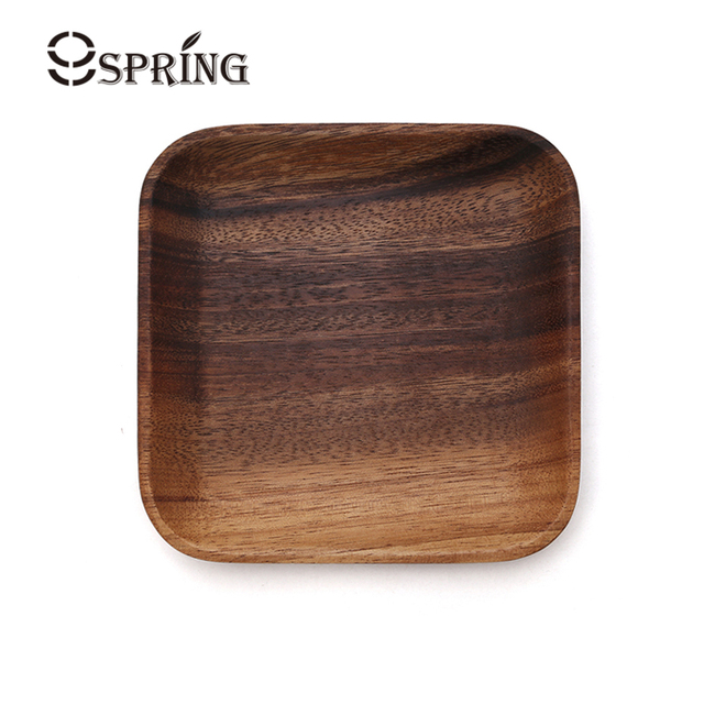 1 Piece Square Plate Small Vintage Wooden Tray Sushi Plate Wood Serving Dishes for Cake Dessert  sc 1 st  AliExpress.com & 1 Piece Square Plate Small Vintage Wooden Tray Sushi Plate Wood ...