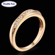 Высокое качество, свадебные кольца на палец для женщин, модный брендовый австрийский хрусталь, кольцо с хвостом, Винтажные Ювелирные изделия, DWR314M