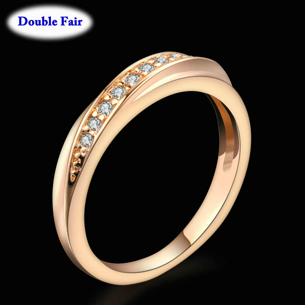 Top Quality Wedding Party Finger Rings For Women Fashion Brand Austrian Crystal Tail Ring Vintage Jewelry DWR314M