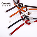 CATELLES 2016 Leather Belt  For Women Thin Strap Dress Designer  Leather Belts Female Girls Fashion Casual Accessories