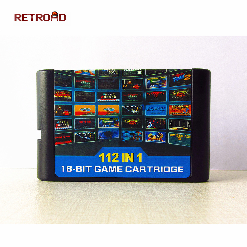 The Latest 112 In 1 & 126 In 1 Game Cartridge 16 Bit MD Game Card For Sega Mega Drive For Sega Genesis,only For Original Console