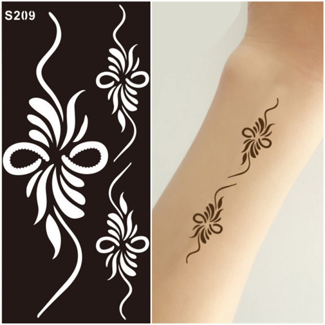 Temporary Tatoos Templates Tattoo Stencils Boys Girls Mehndi Indian