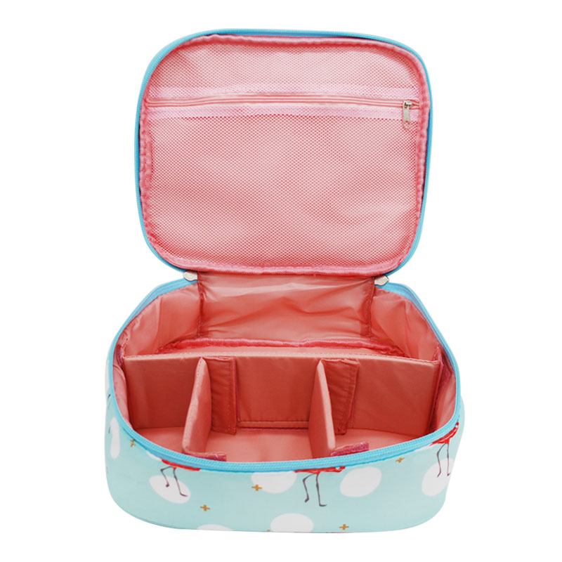 Women Travel Cosmetic Cases Single Layer Zipper Makeup Bag Multifunctional Portable Toiletry Wash Organizer Accessories Supplies