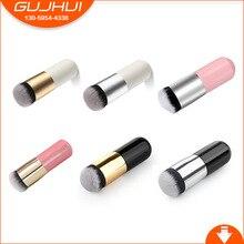 Фотография GUJHUI basic brush small fat pier foundation brush portable round head flat Makeup Brush face makeup tool facial make-up tools