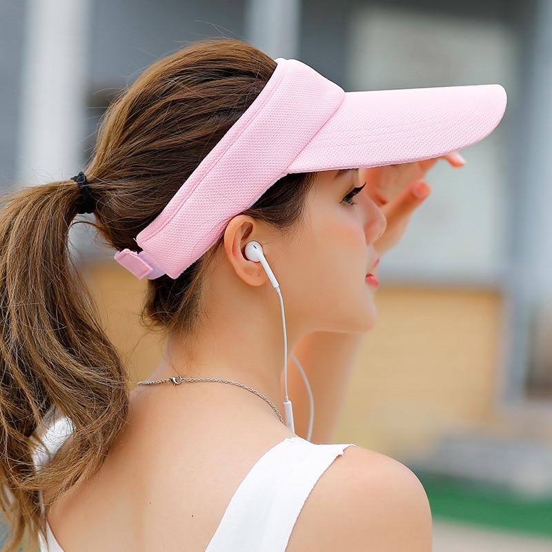 SORRYNAM Visor Sombrero Sombrero de la Marca de Sun de Las Mujeres de - Accesorios para la ropa - foto 4
