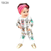 TZCZX 2521 New Children Baby Boys Rompers Novelty Cartoon Printed Full O Neck Jumpsuit For 6