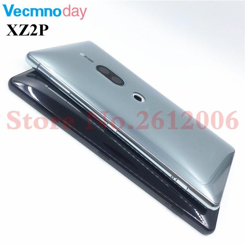 Original pour Sony Xperia XZ2 Premium XZ2P couvercle de batterie arrière réparation du boîtier de la porte arrière avec objectif de l'appareil photo + boutons de Volume d'alimentation
