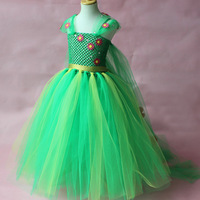 High Quality Fashion Summer Clothing Christmas Tutu Ball Gowns for Birthday Party Flower Girls Green Party Dress Girl Wedding