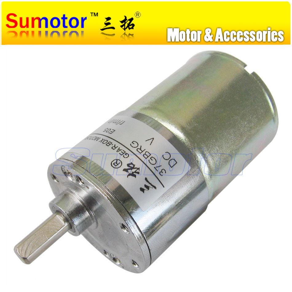 37GBRG DC 12V 24V OD 37mm Micro Electric Reducer Metal Geared Motor DIY engine RC smart car Robot model Slot machine tool цена